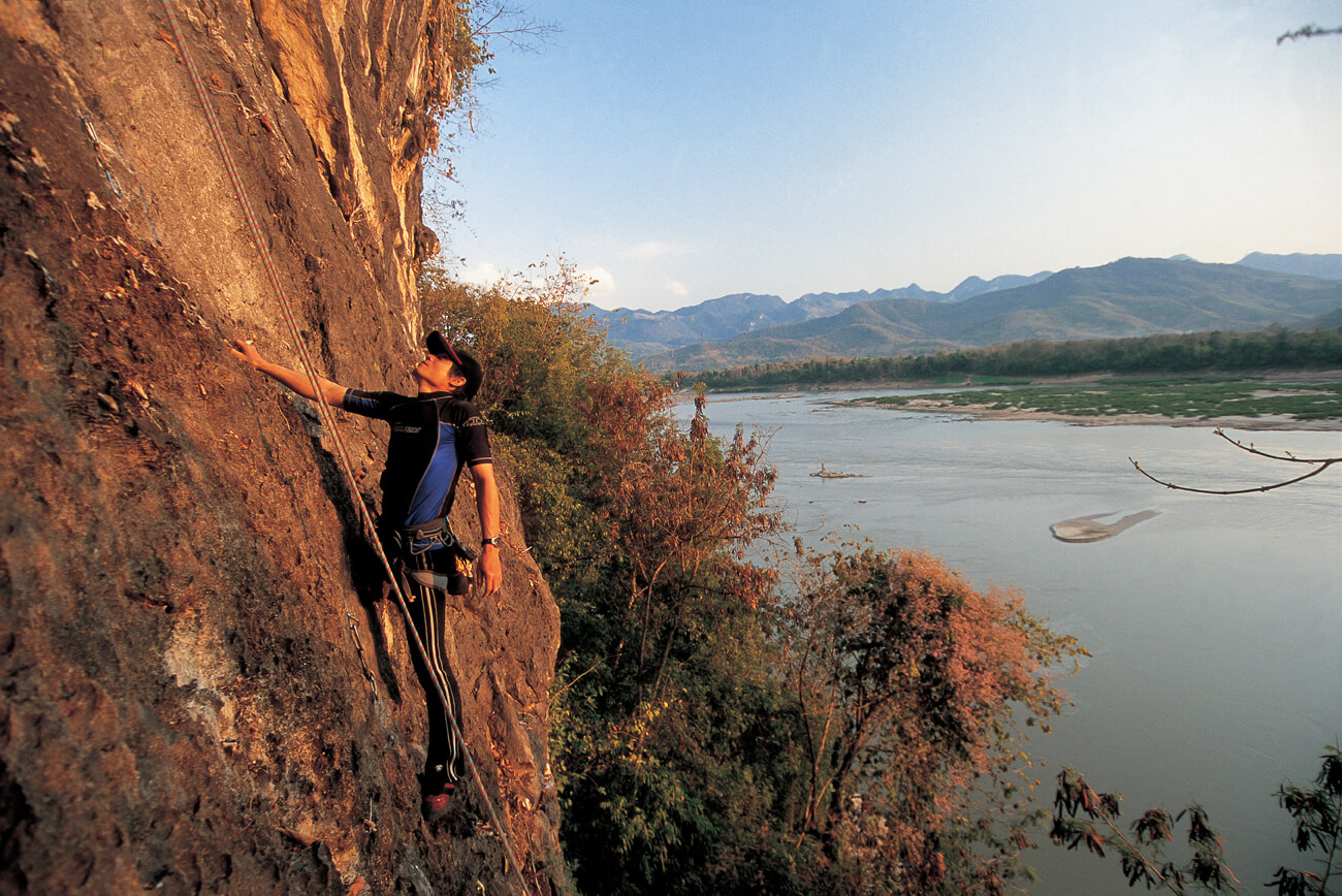 rock climbing in Khammouane