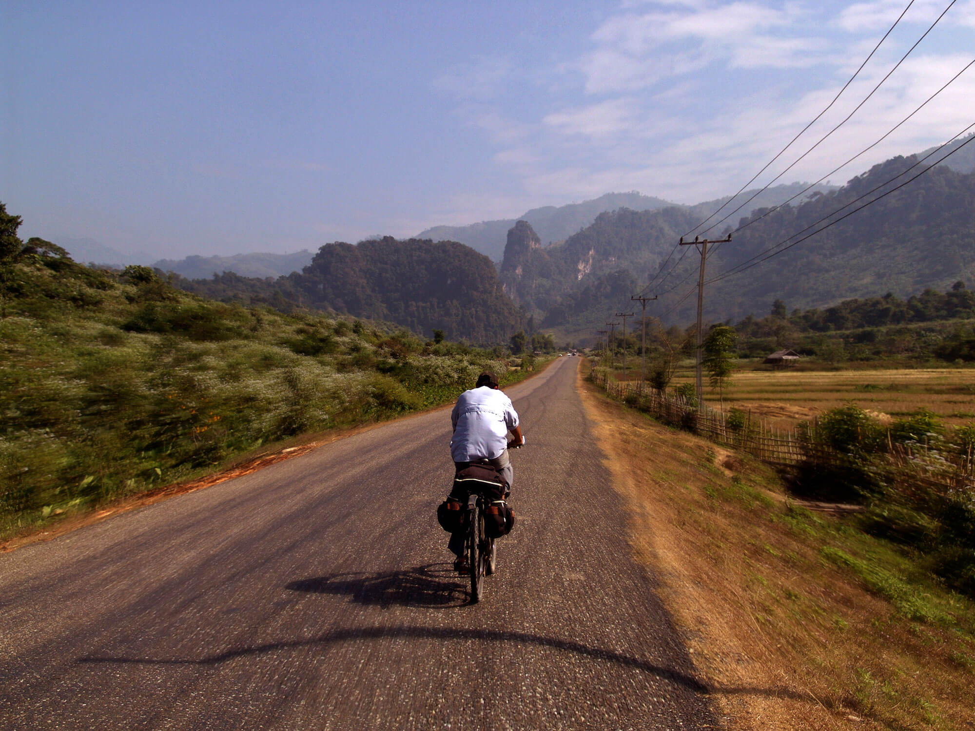 cycling around Laos