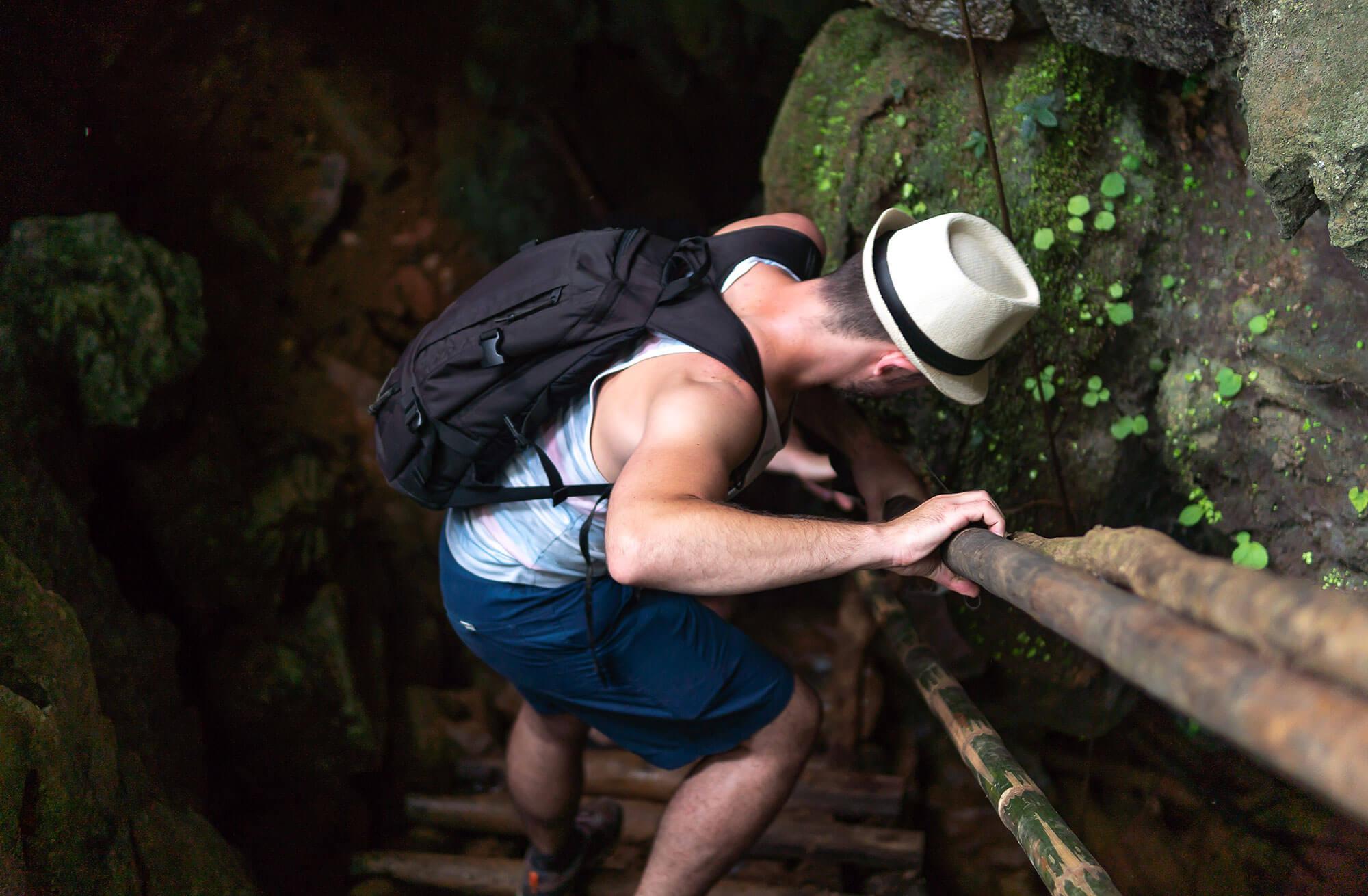 Visit cave in laos