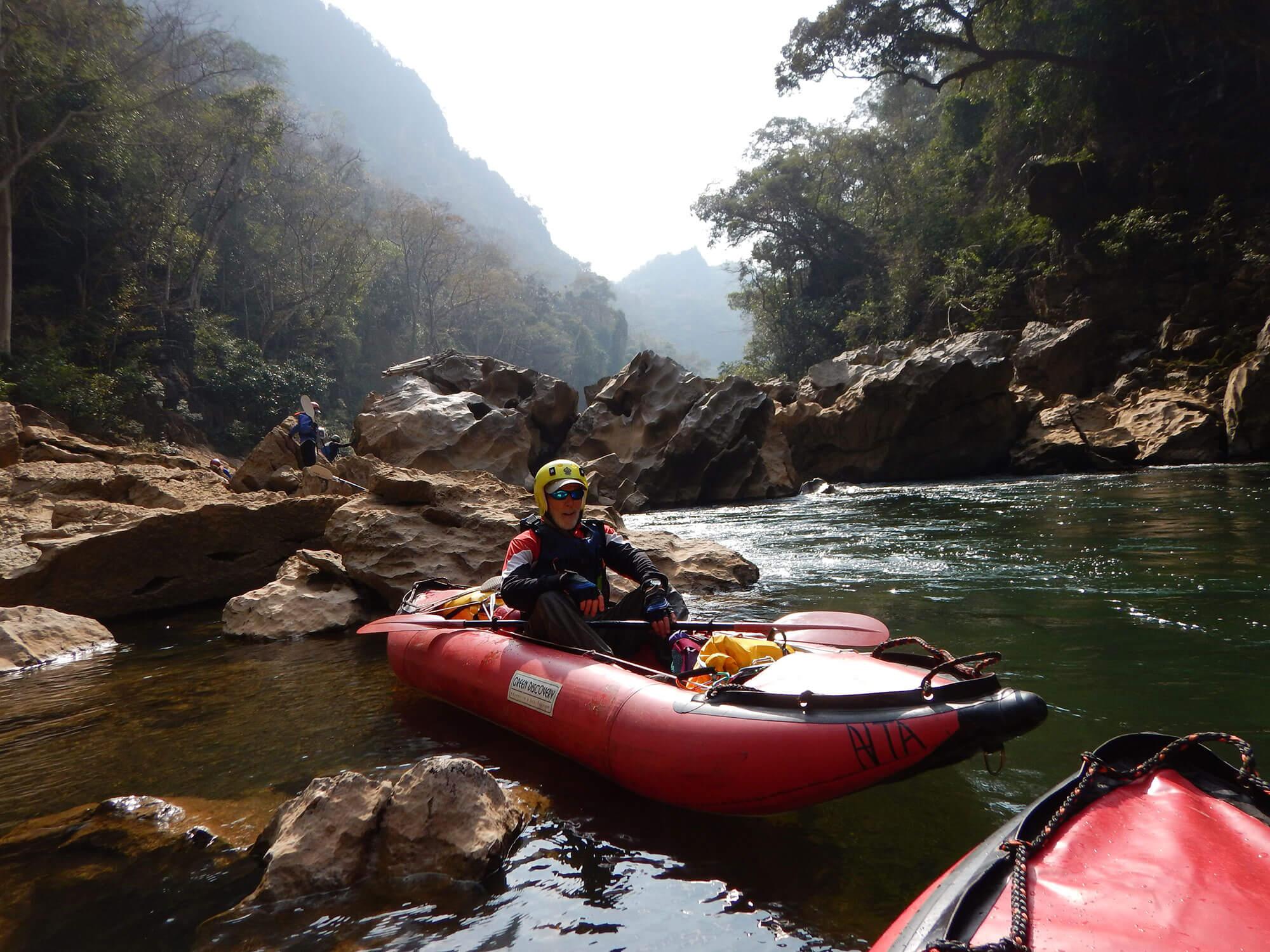 kayak Xe ban Fai river